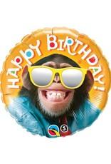 "18"" Smilin Chimp Birthday Balloon"