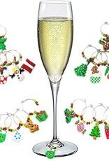 Christmas Wine Glass Charms 6pcs