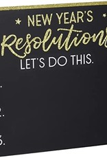 New years resolution board