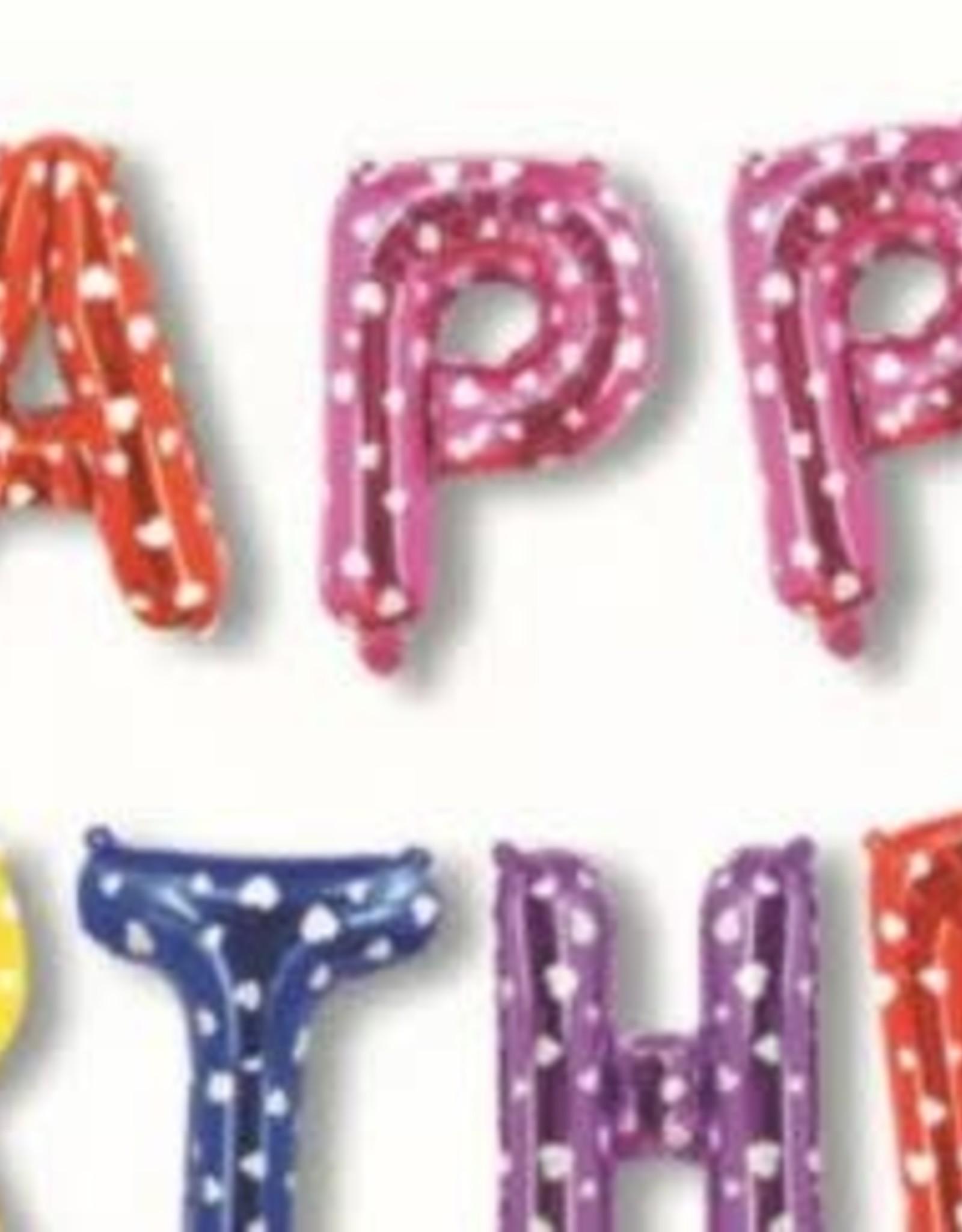 16'' Happy Birthday Balloon Banner