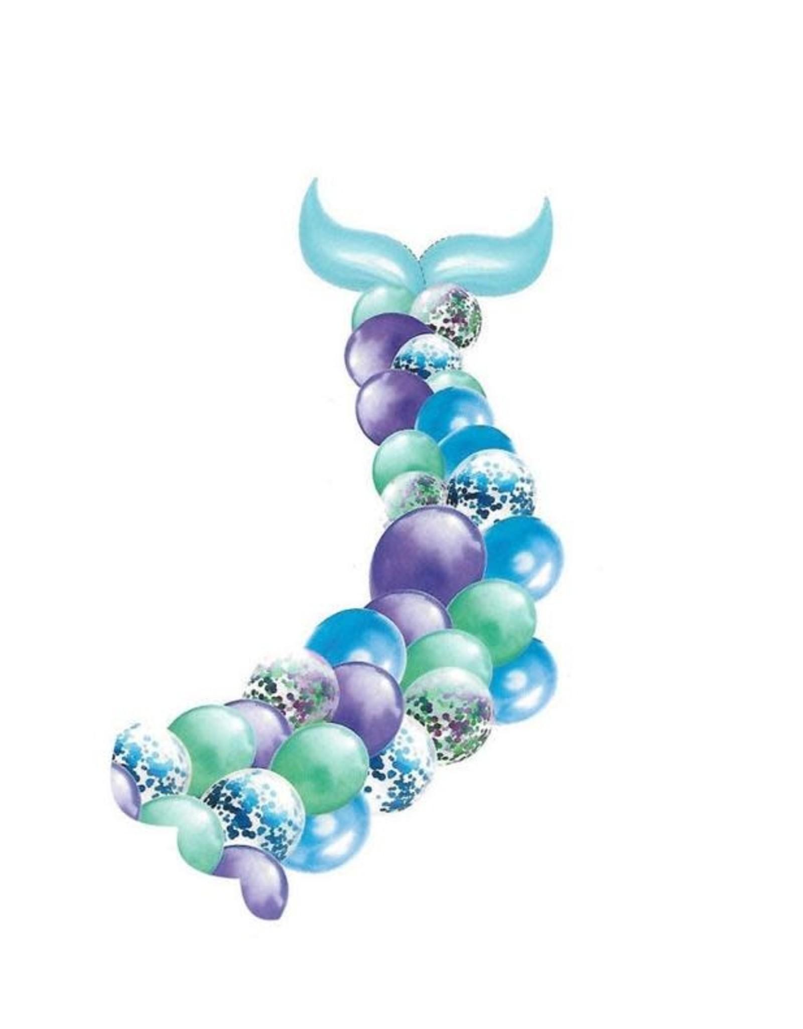 Purple metallic mermaid tail