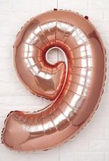 "40"" Rose Gold #9 Balloon"