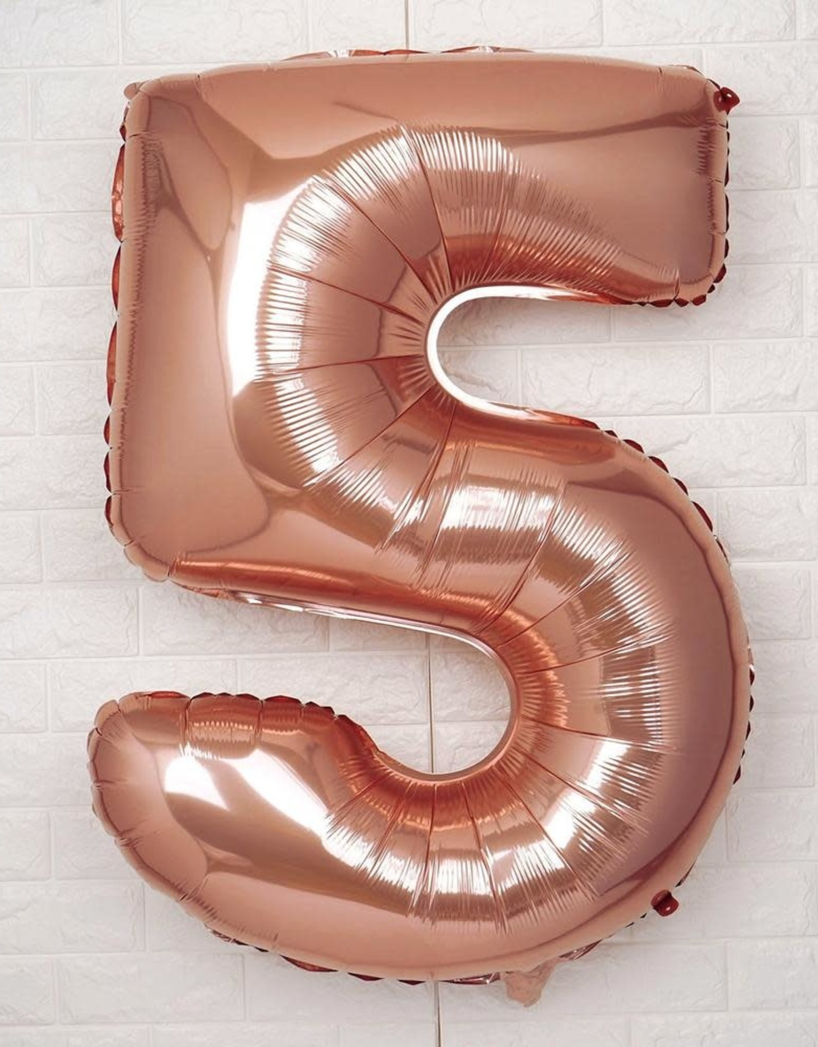 "40"" Rose Gold 5 Balloon"