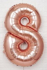 "40"" Rose Gold# 8 Balloon"