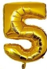 """16"""" Gold # 5 Balloon"""