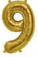 """16"""" Gold 9 balloon"""