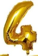 """16"""" Gold 4 balloon"""