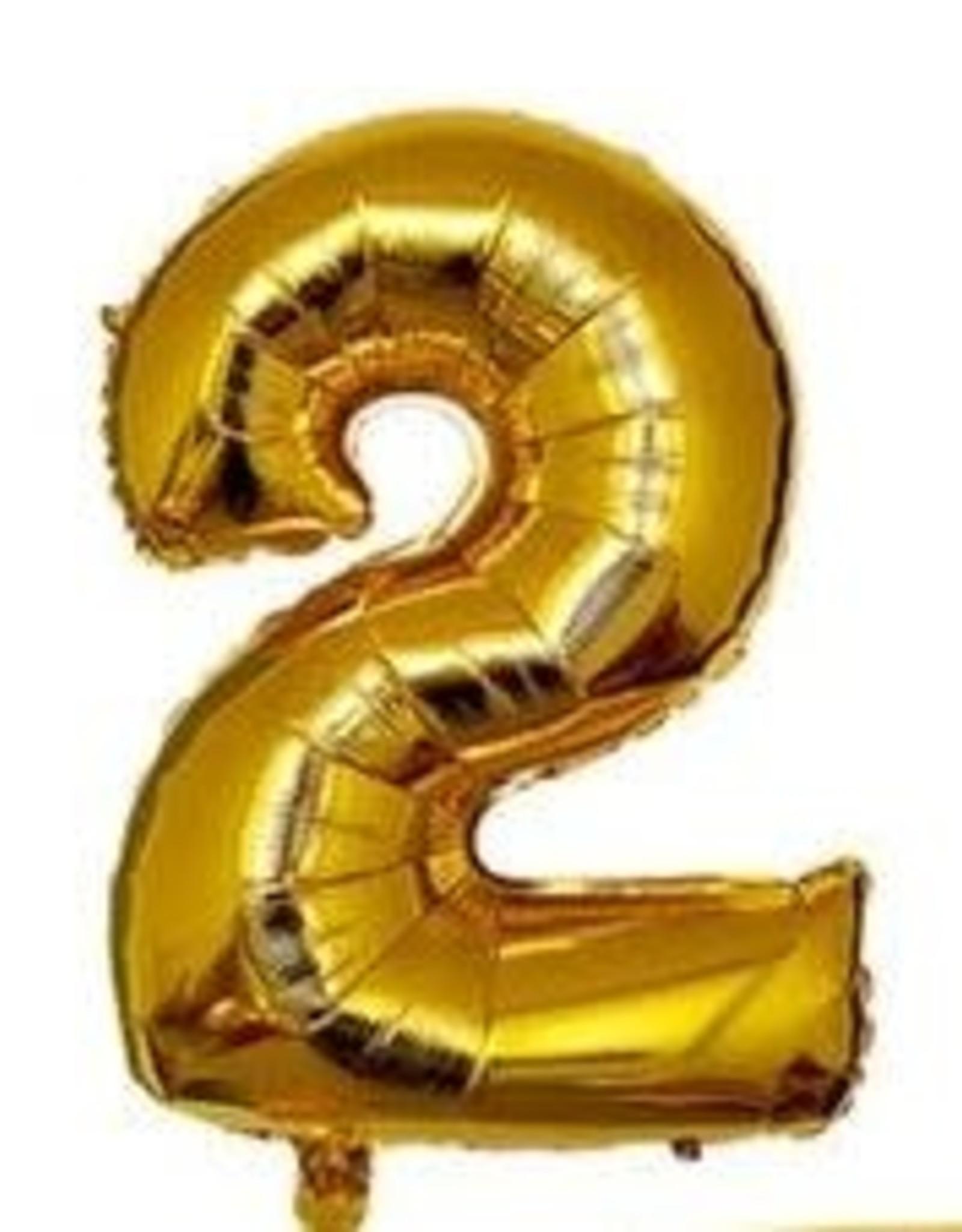 """16"""" Gold # 2 Balloon"""