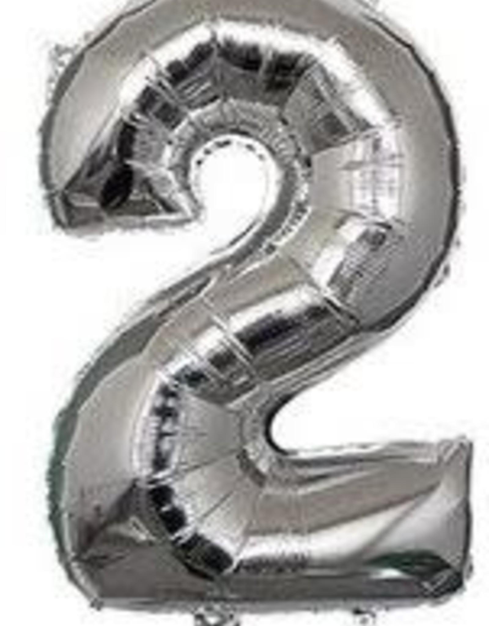 """16"""" Silver 2 balloon"""