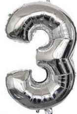 16'' Silver # 3 Balloon