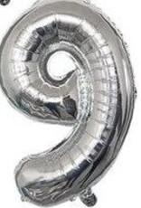"""16"""" Silver 9 balloon"""
