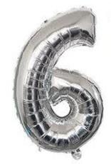 """16"""" Silver 6 balloon"""