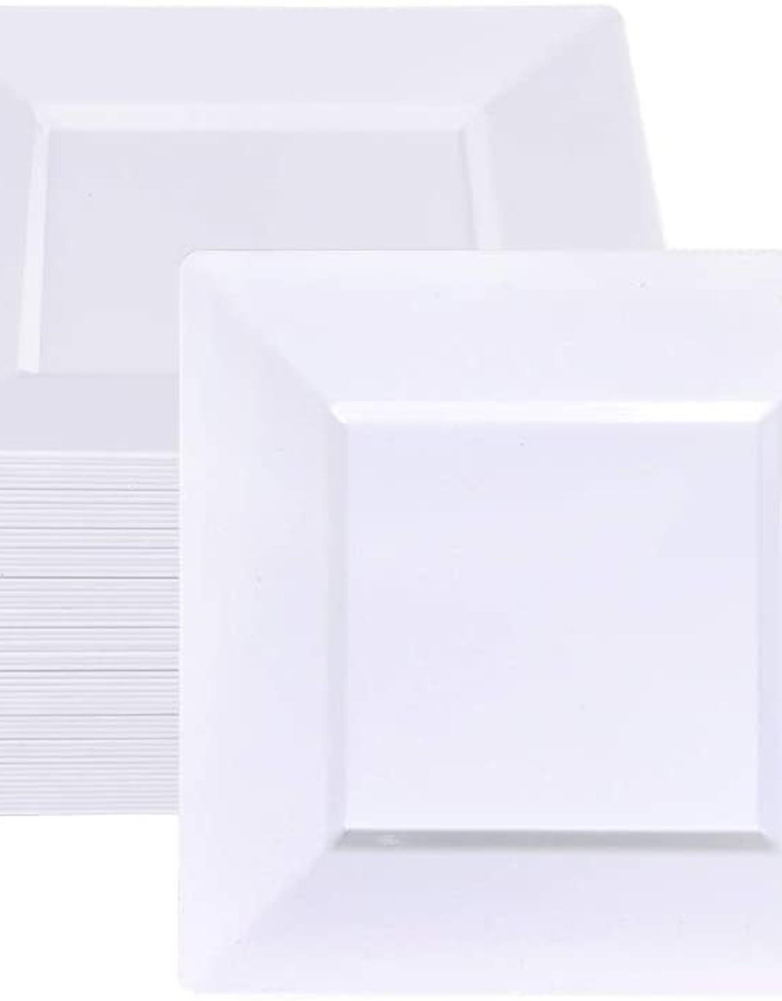 """7 1/2"""" square plastic plates"""