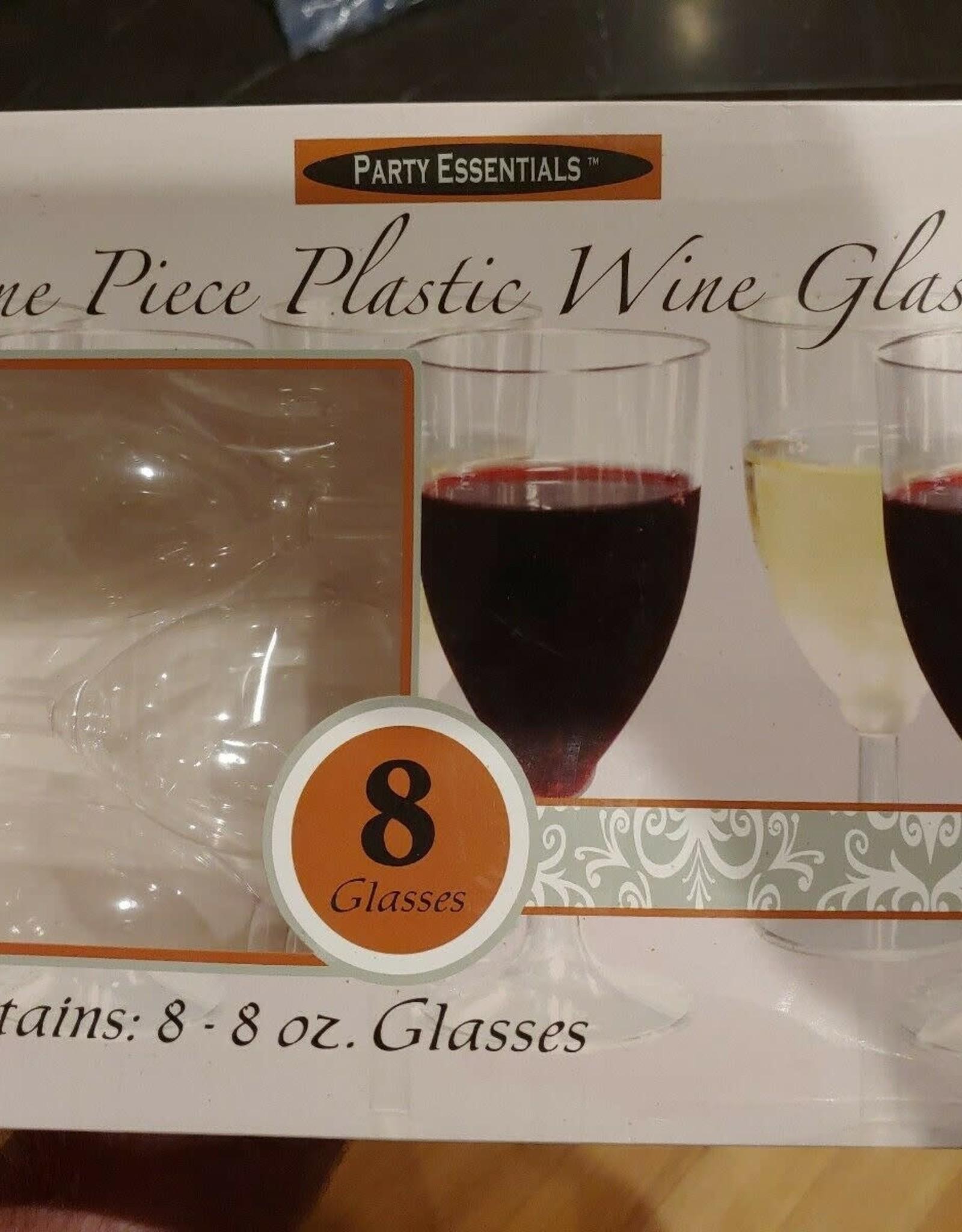 One piece plastic wine glasses