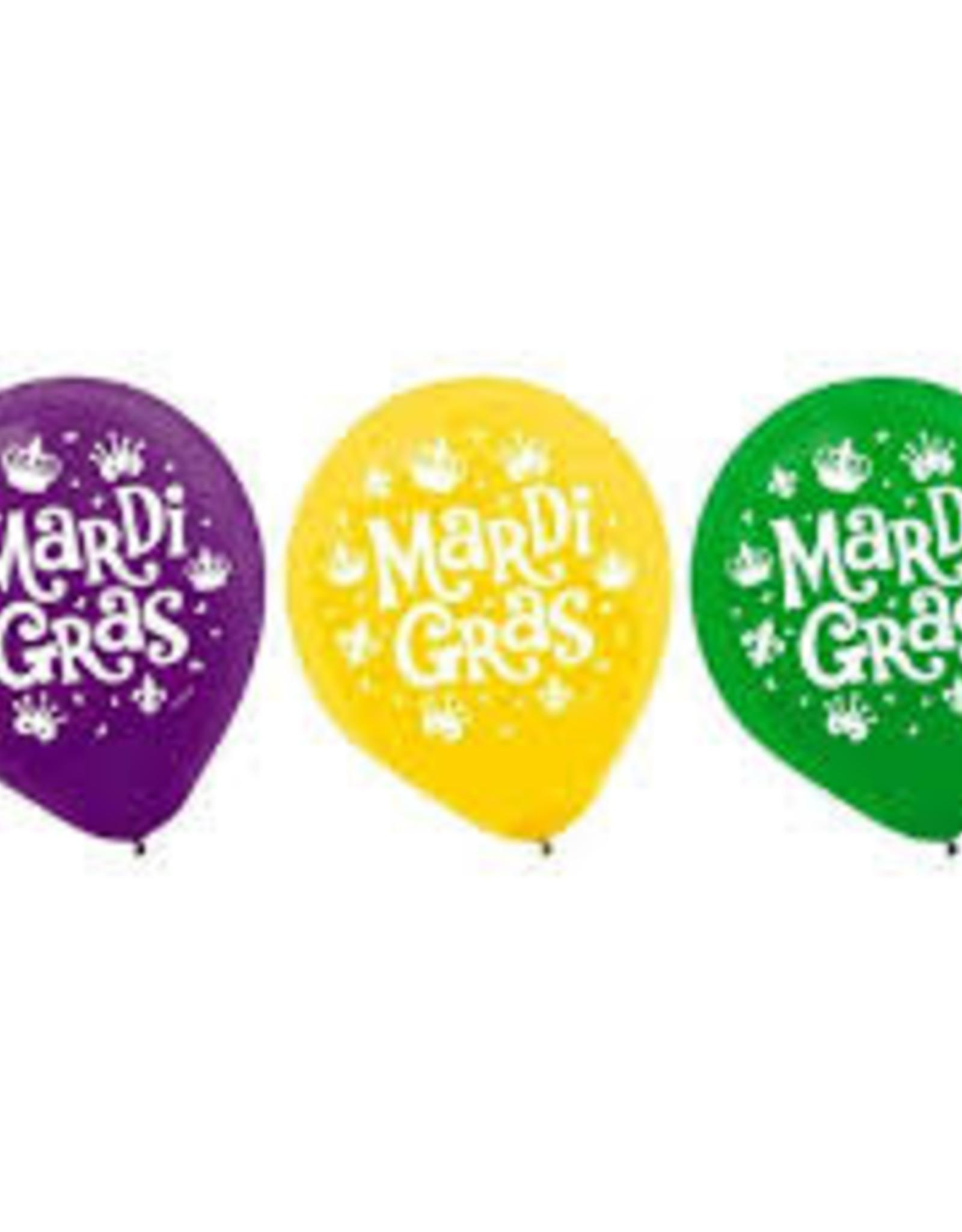 15 mardi gras balloon