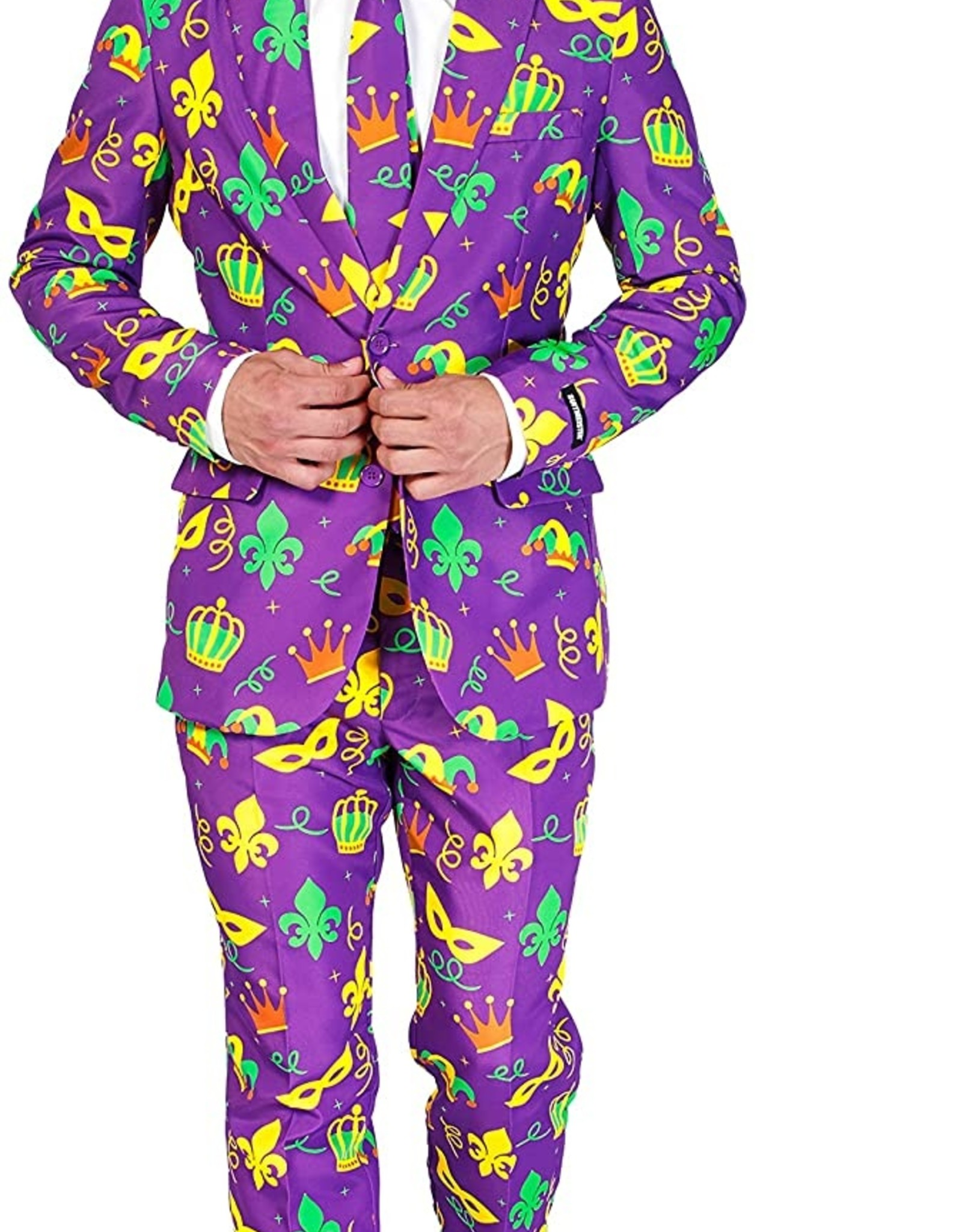 Wallys party factory SuitMeister Mardi Gras Suit