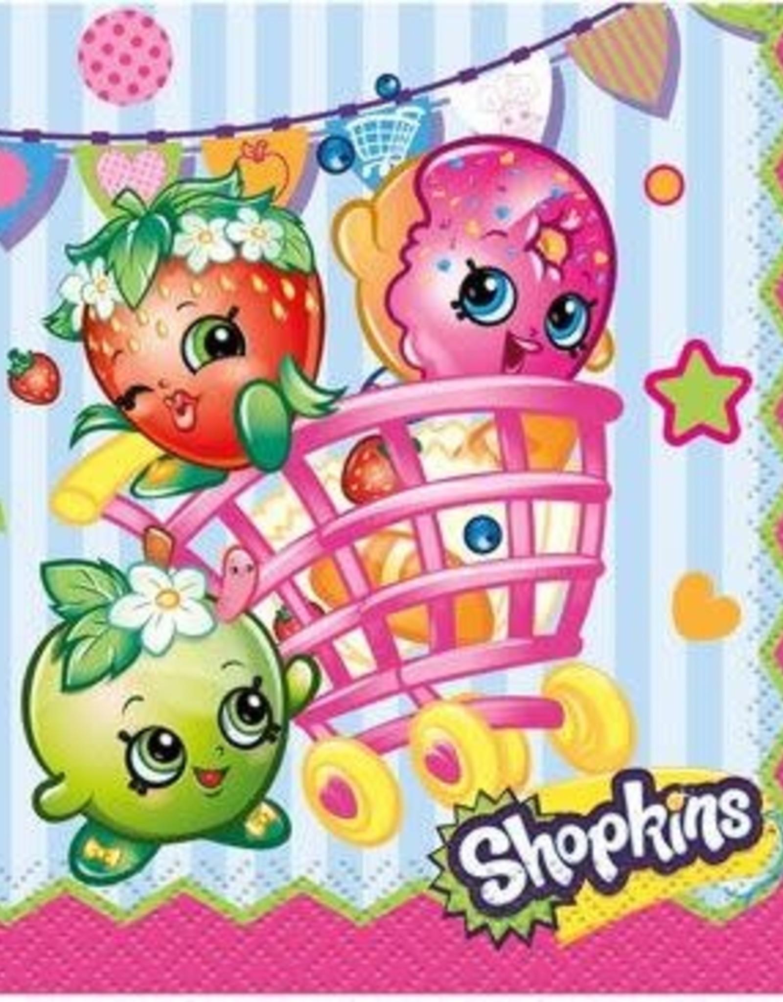 Unique Shopkins Napkins 16 count 10cmx10cm