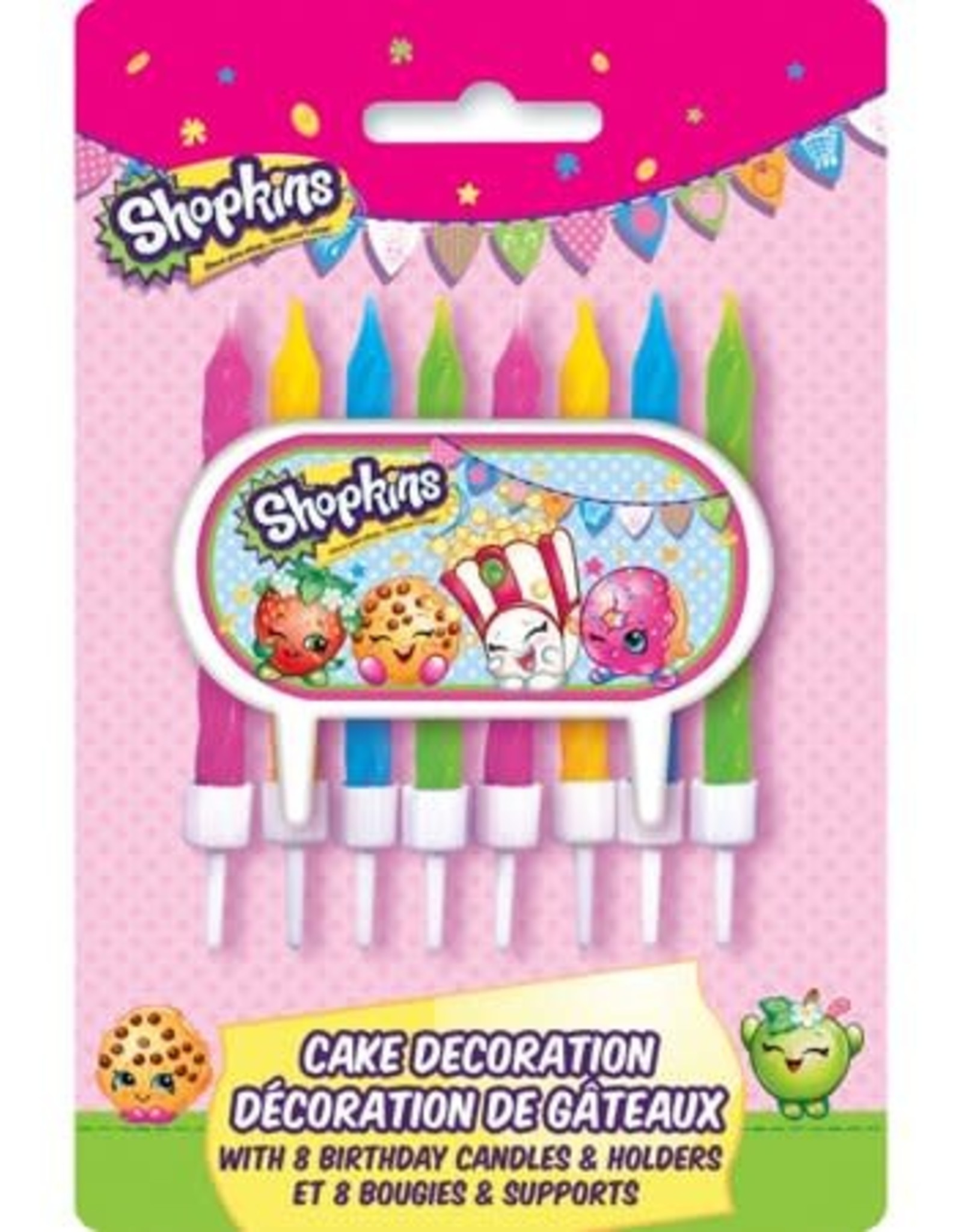 Wallys party factory Shopkins Birthday Candles 8ct