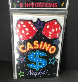 Wallys party factory Casino Invitations 8 count