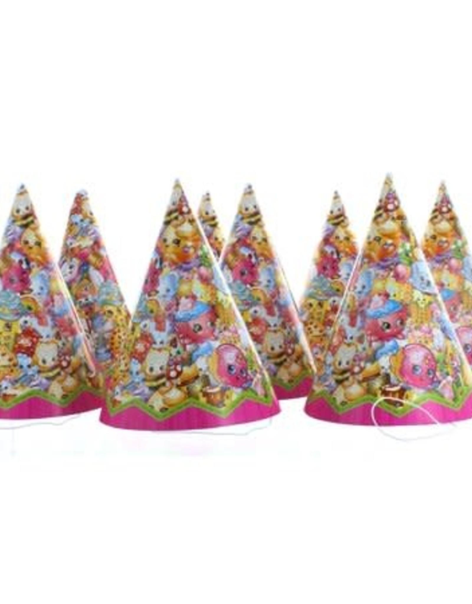 Unique Shopkins Party Hats 8 count