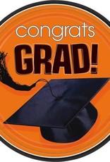 """Wallys party factory Congrats Grad Orange 18 count 9"""""""