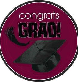 """Wallys party factory Congrats Grad Maroon 18 count 9"""""""