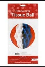 Wallys party factory 4th of july honeycomb tissue ball