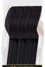 Black Plastic Spoons