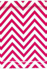 Wallys party factory Pink Chevron paper plate