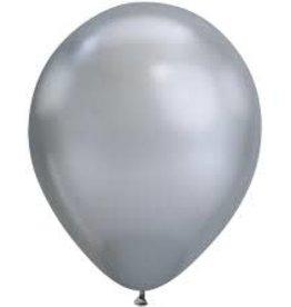 12'' Metallic  Silver Latex Balloons 50ct