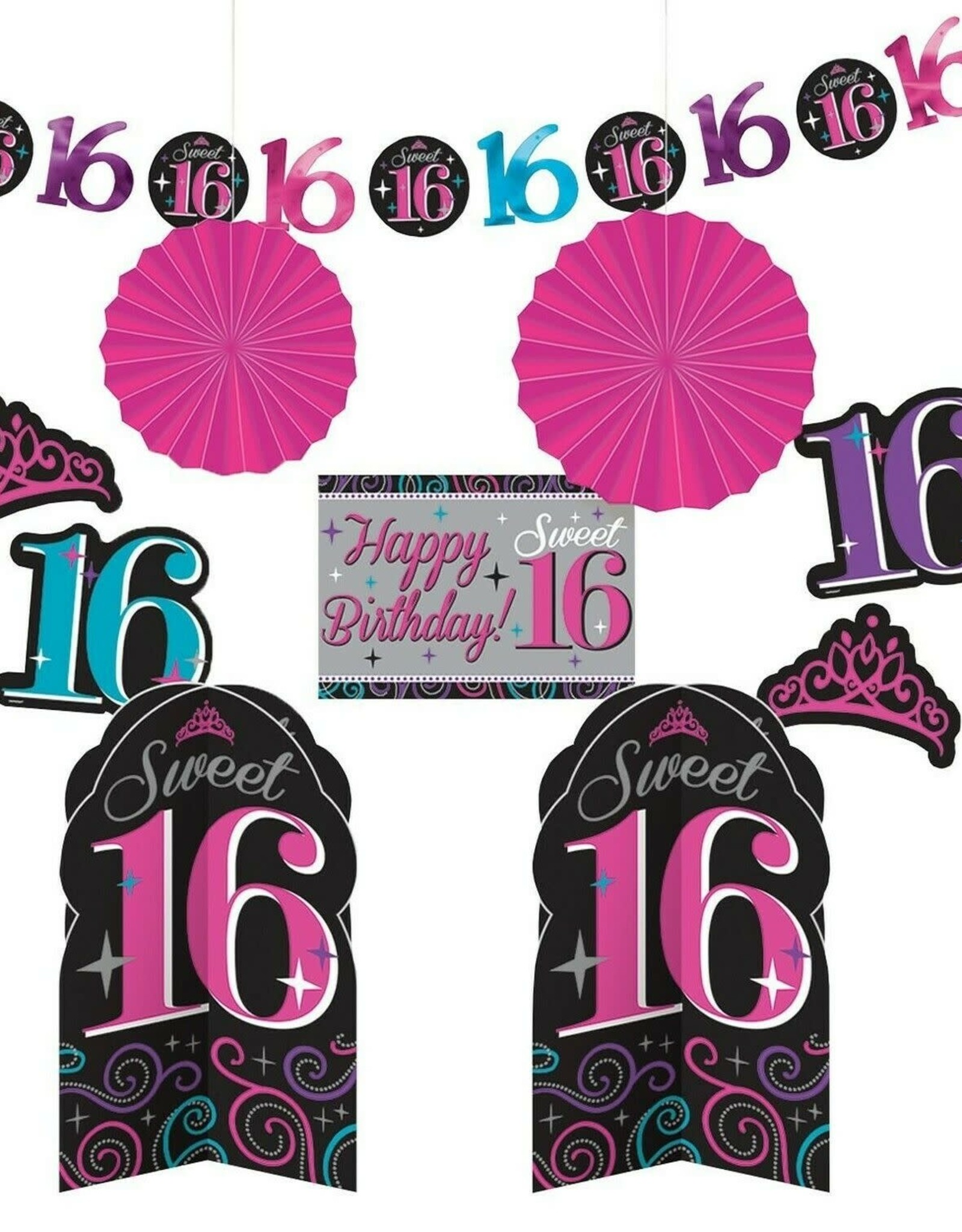 Wallys party factory Sweet 16 Room Decorating Kit