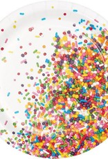 "Sprinkles 7"" Paper Plates 8ct"