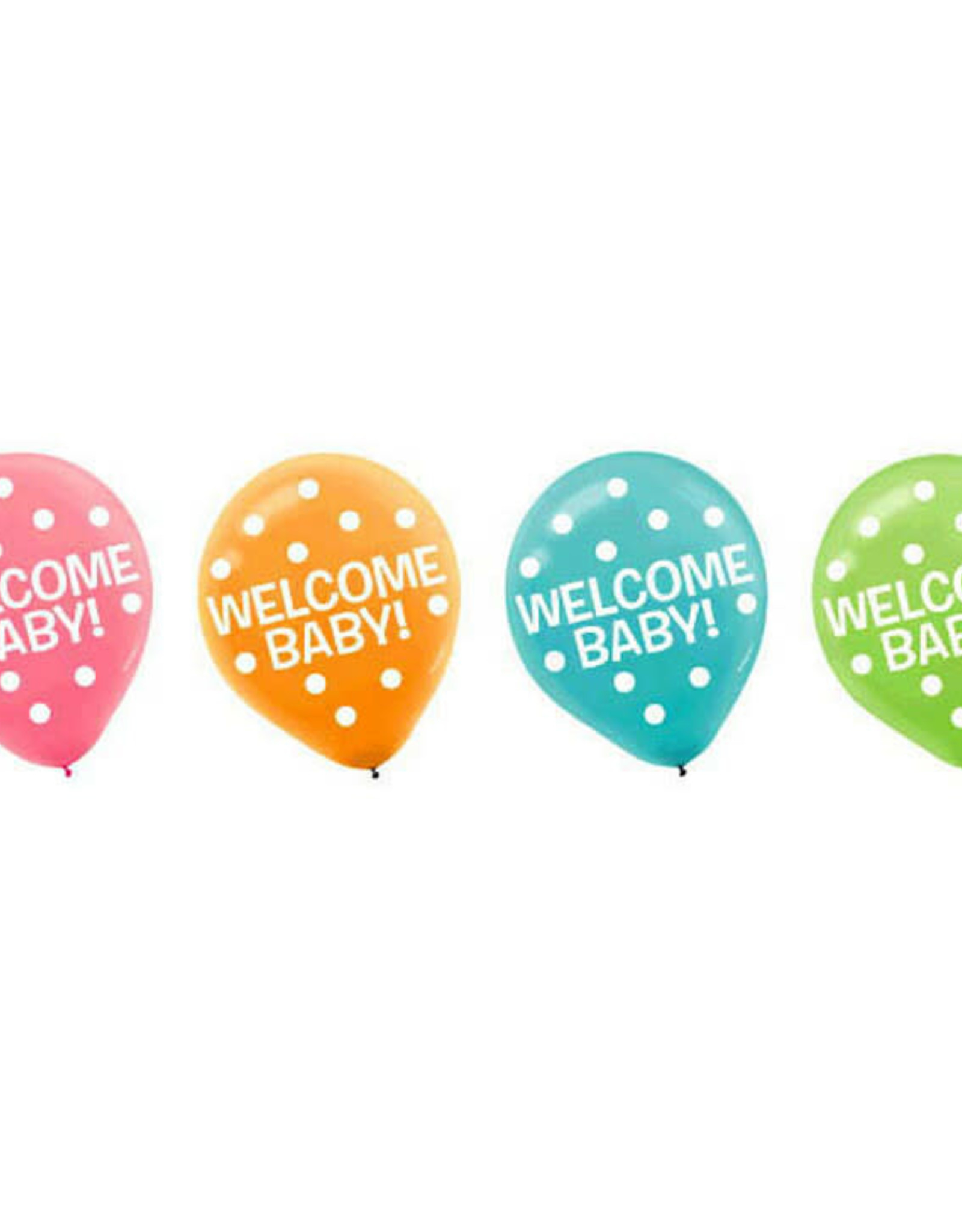 Welcome Baby Latex Balloons