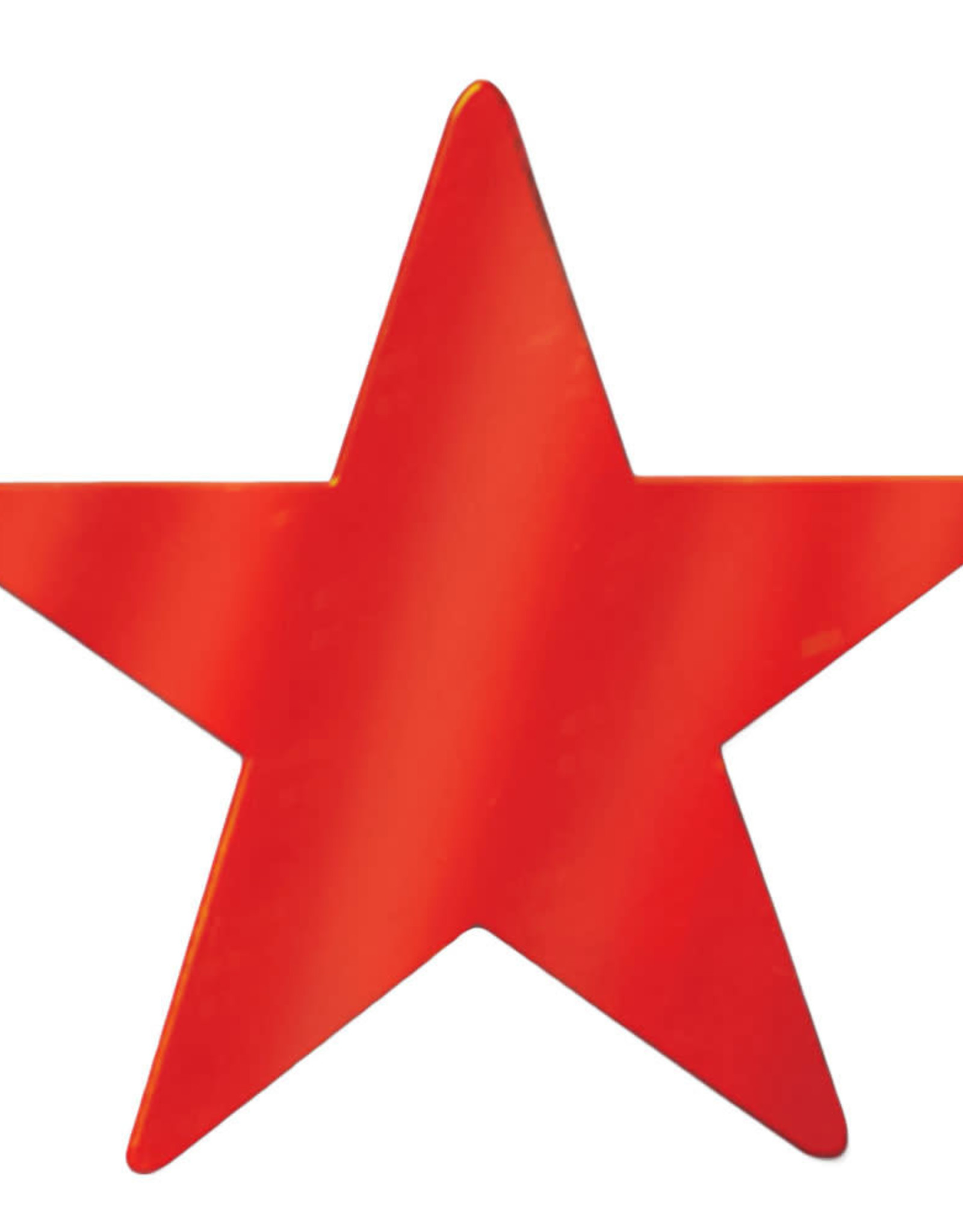 Wallys party factory Mini Foil Cutout Stars - Red