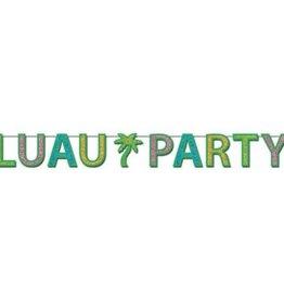 Glittered Luau Party Streamer