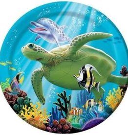 """PPART Ocean Party 7"""" Lunch Plate Small"""