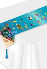 Wallys party factory Printed Under The Sea Table Runner