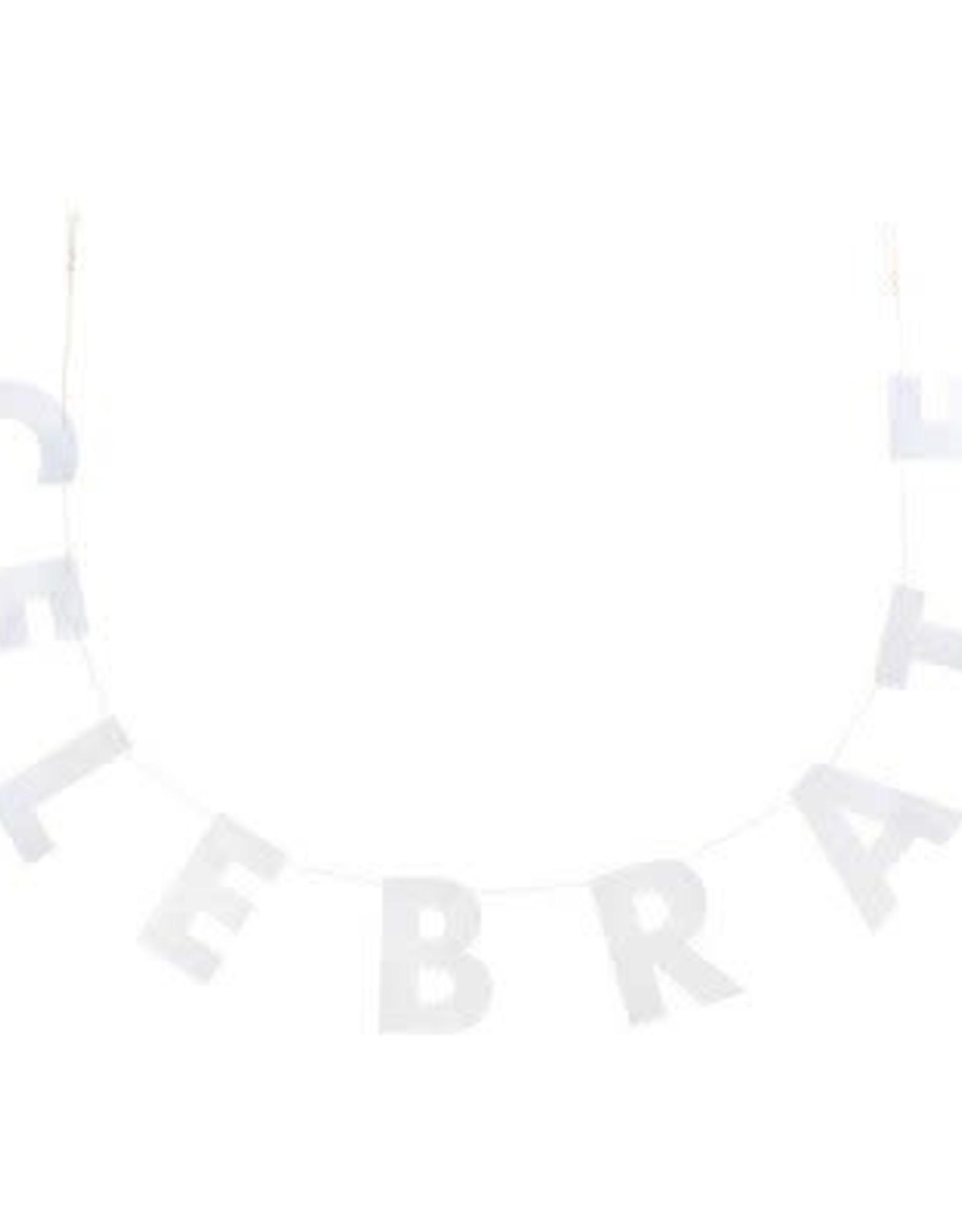 Celebrate Banner Silver