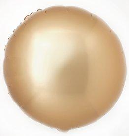 18''Mylar ROUND CHROME GOLD