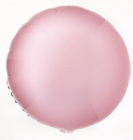 18'' Mylar ROUND CHROME PINK