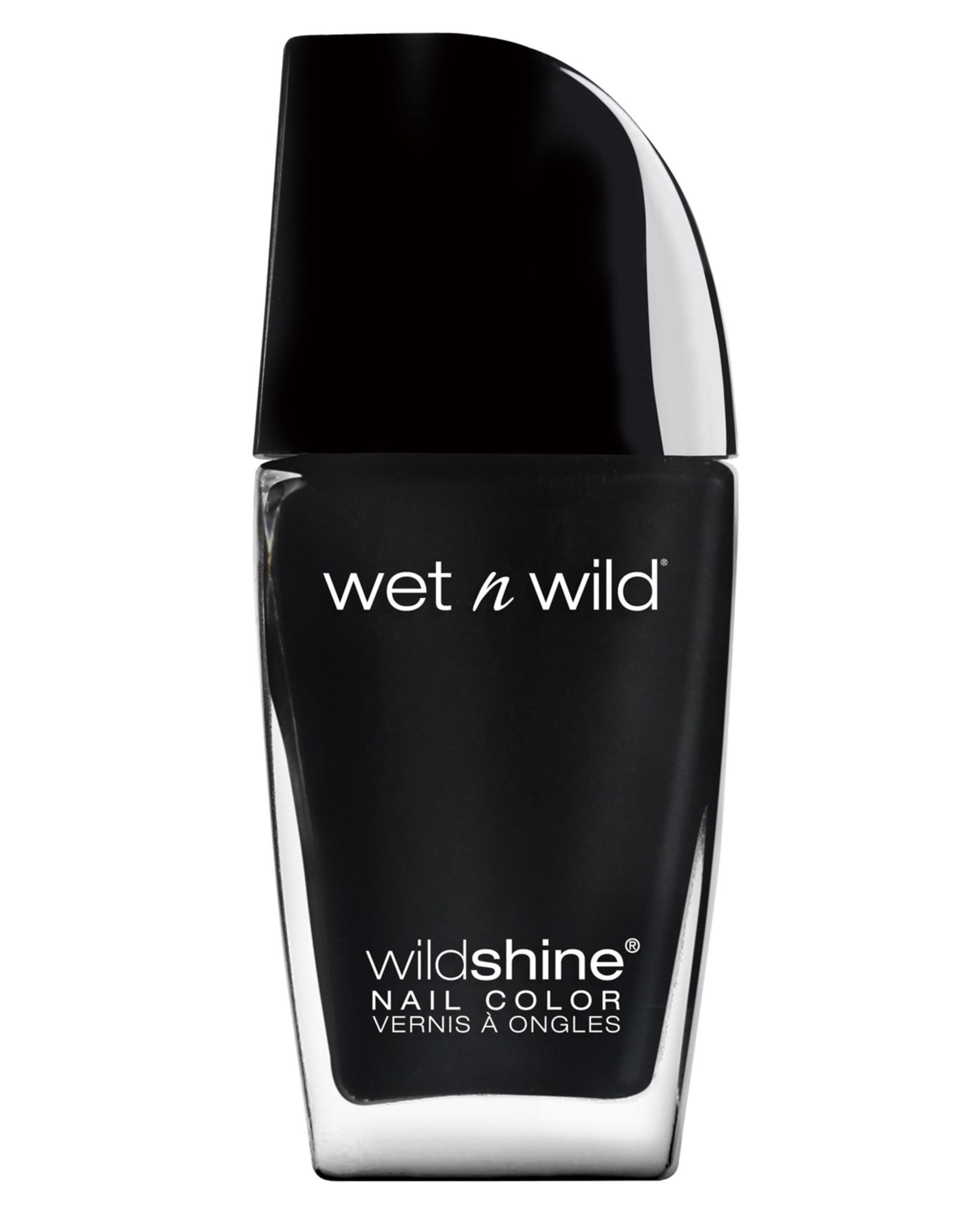 wet n wild Wild Shine Nail Color, Black Crème