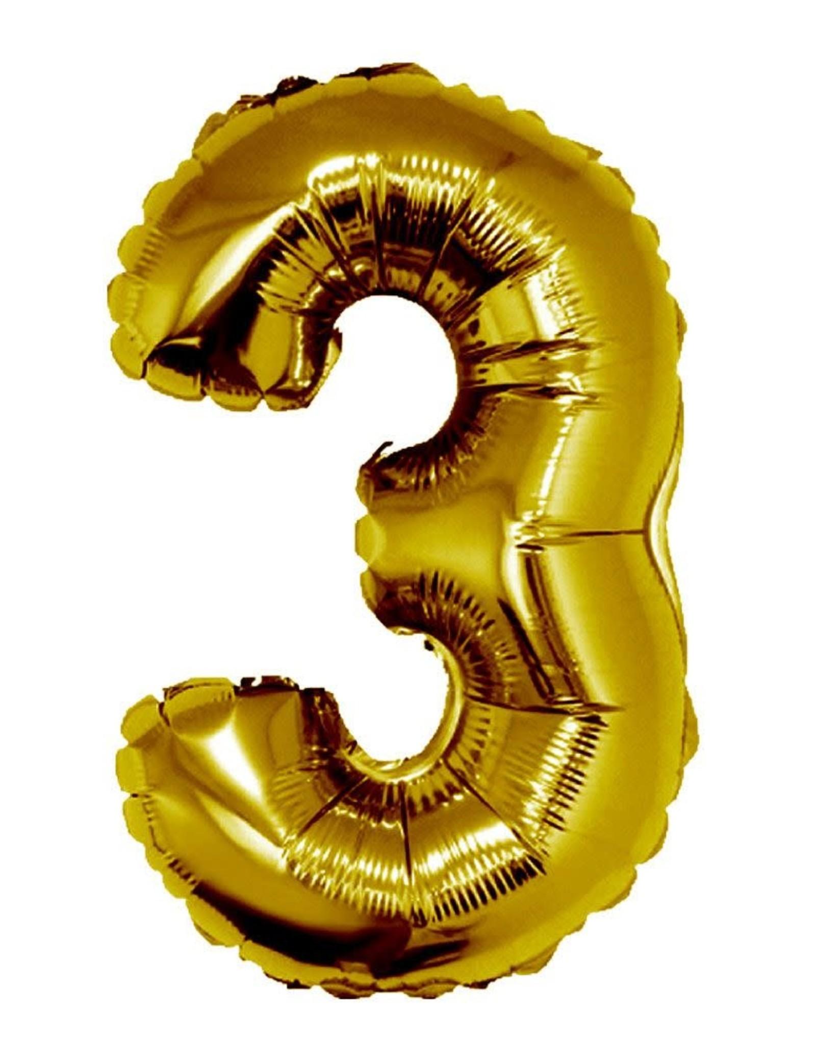 34'' Gold #3 Balloon