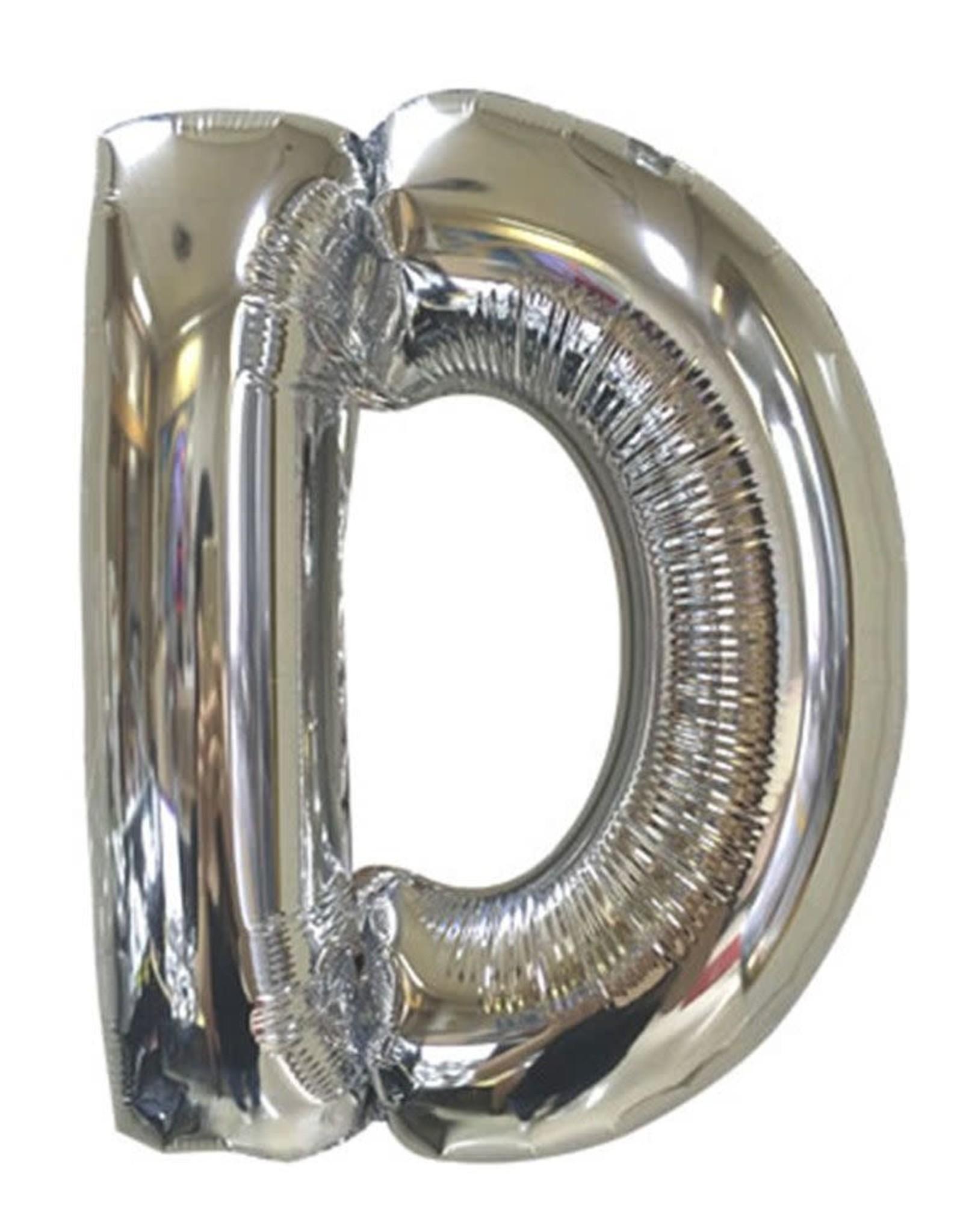 "40"" Silver Letter D Balloon"