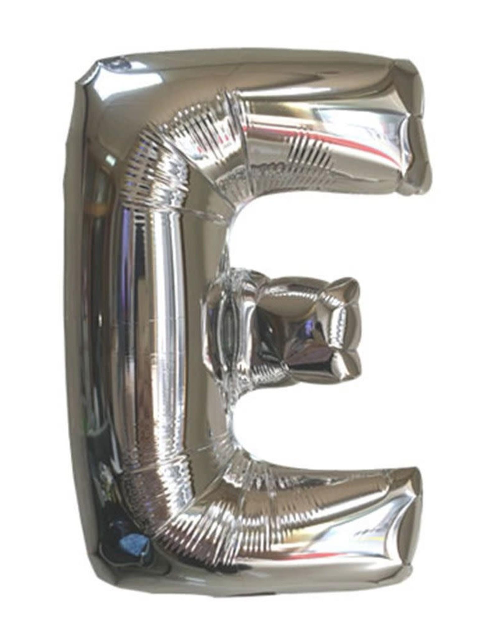 """40"""" Silver Letter E Balloon"""