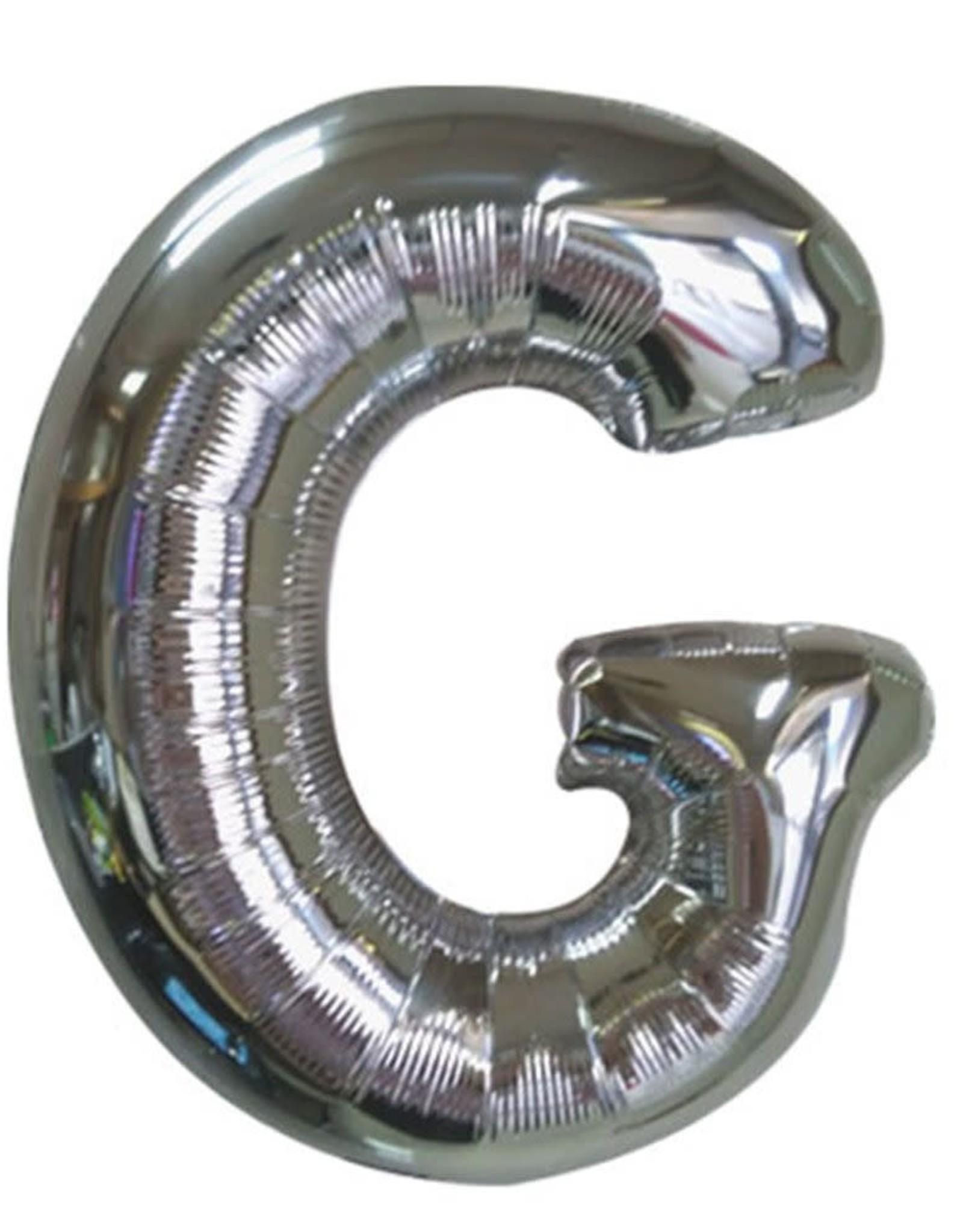 "40"" Silver Letter G Balloon"