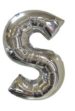 """40"""" Silver Letter S Balloon"""