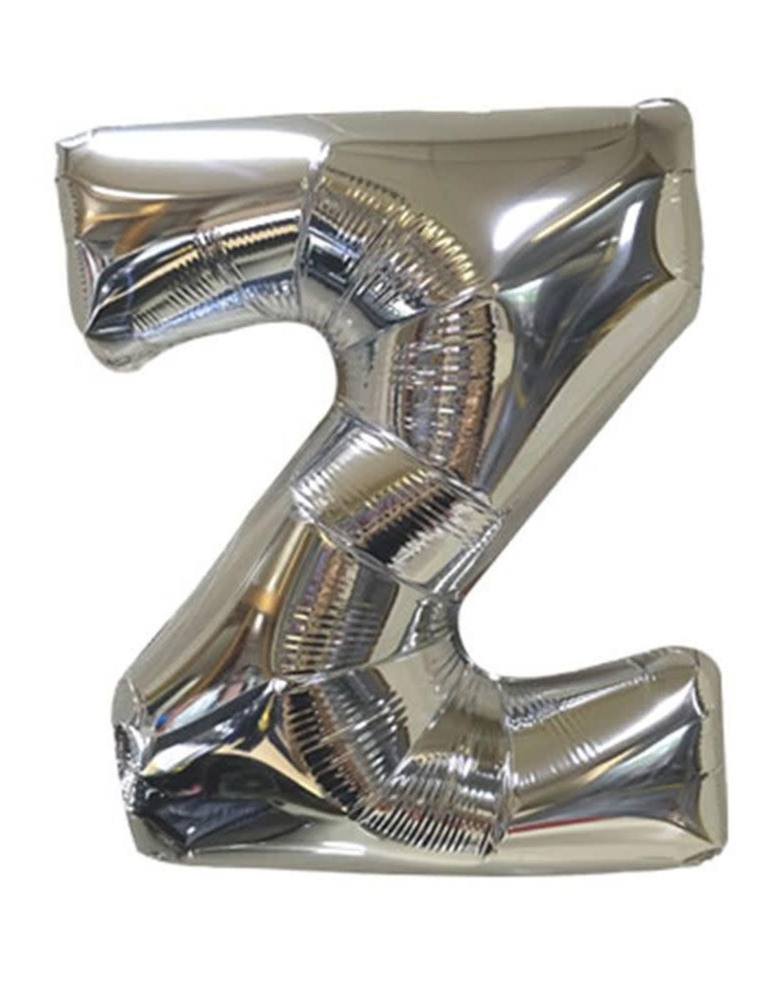 "40"" Silver Letter Z Balloon"