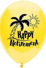 """Wallys party factory 12"""" HAPPY RETIREMENT Latex Balloons"""