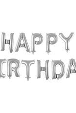 HAPPY BIRTHDAY SILVER Banner 16''