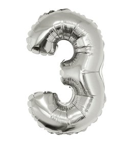 34'' Silver #3 Balloon